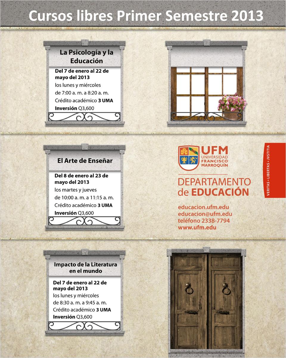 cursos libres primer semestre2013