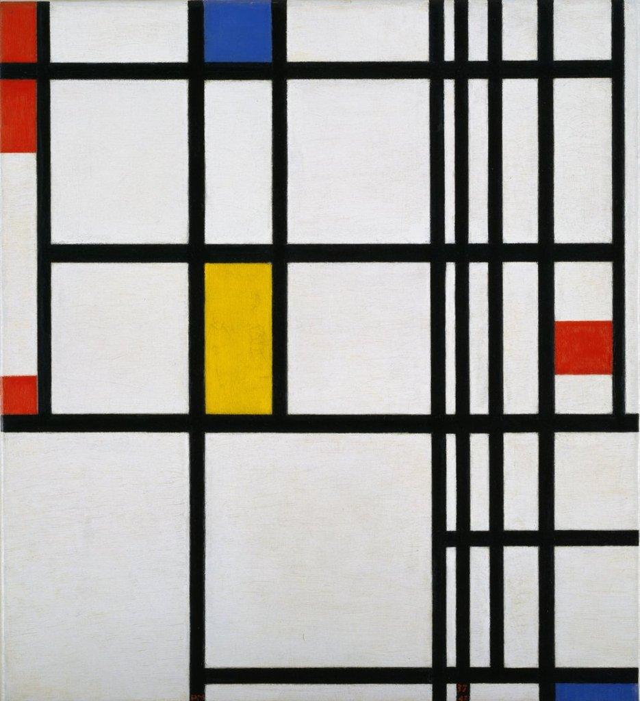 Mondrian, Composicion en rojo, azul y amarillo. 1937-42