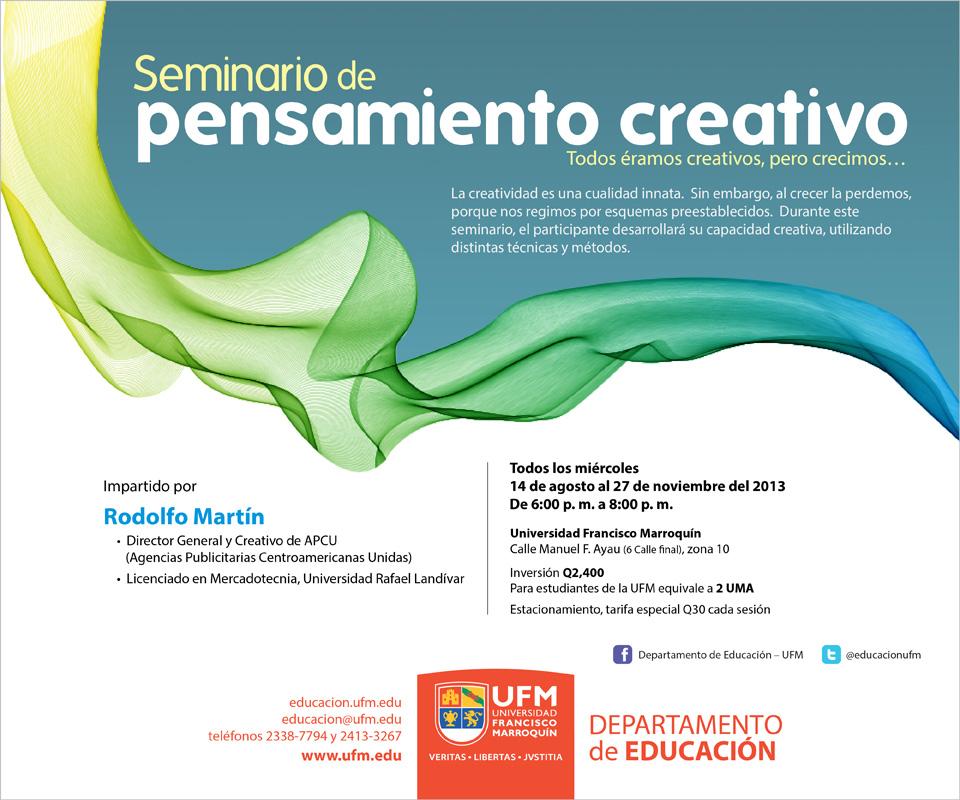 Invitacion SeminarioPensamiento creativo APROBADA