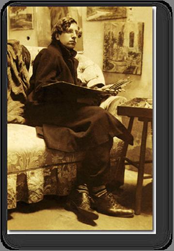 Carlos Mauricio Valenti, en 1912, antes de partir a París.  (Fuente: leopl.com).