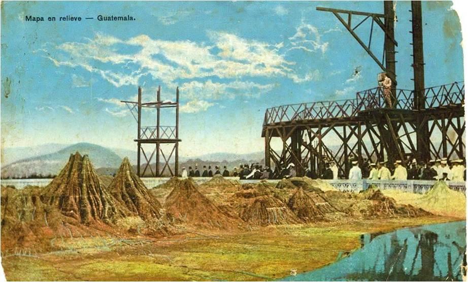 Postal conmemorativa del Mapa en Relieve. Fuente: skyscrapercity, foro de la ciudad de Guatemala.
