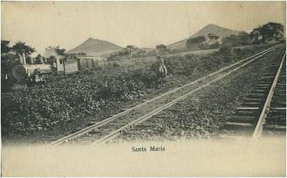 Paso del tren por Santa María