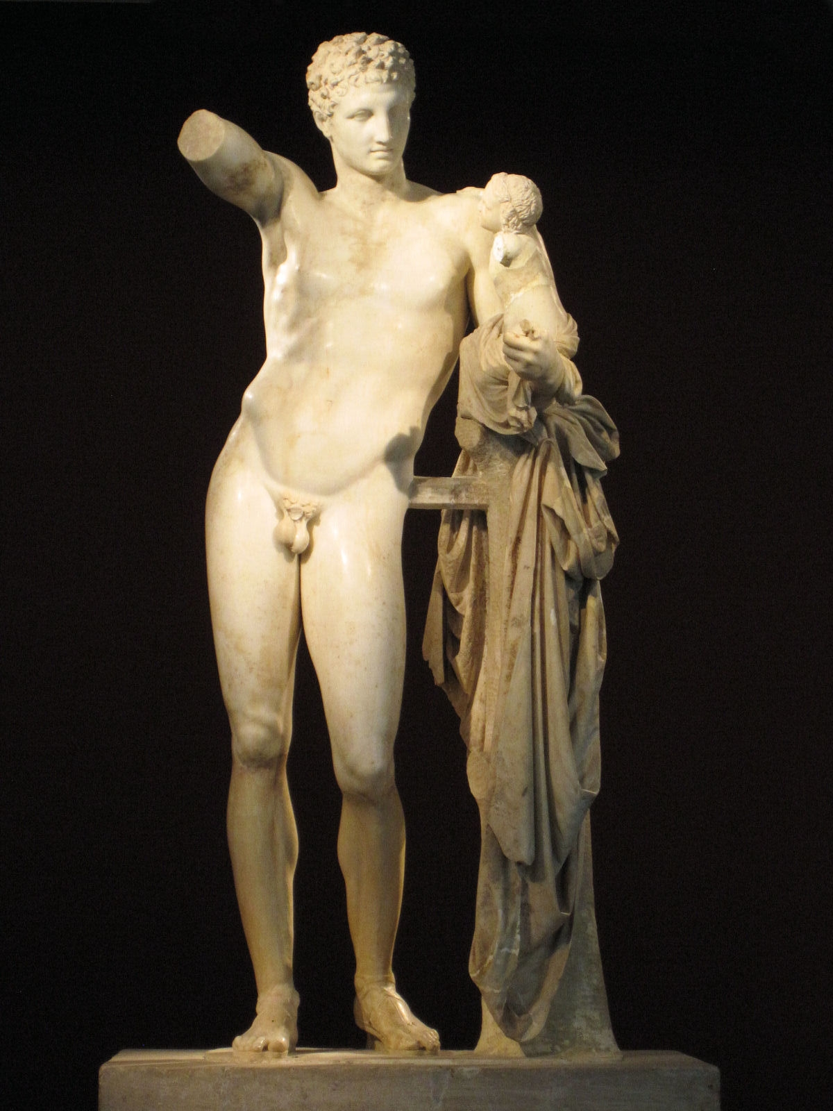Praxíteles, Hermes y Dionisos. Mármol, 350-330 a. C.