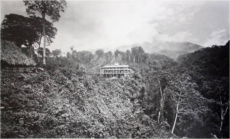 Finca Las Nubes. Muybridge, 1875. Base de las exploraciones de Champion por la bocacosta del Pacífico.