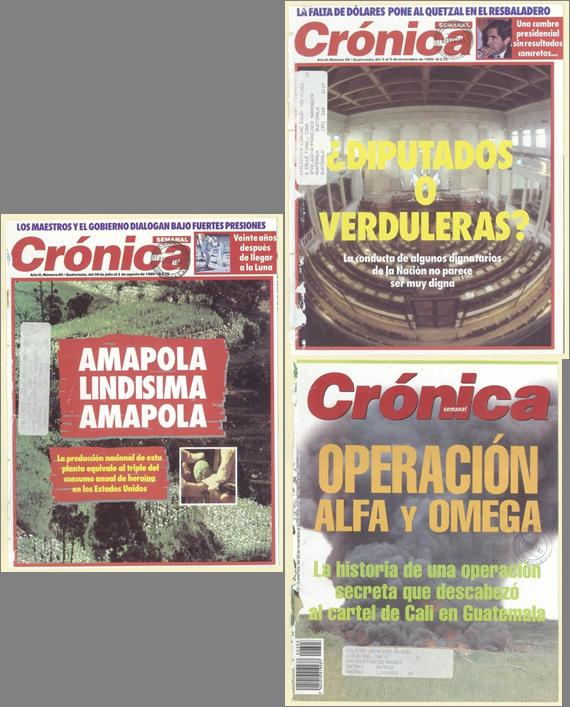 Crónica y el narcotráfico