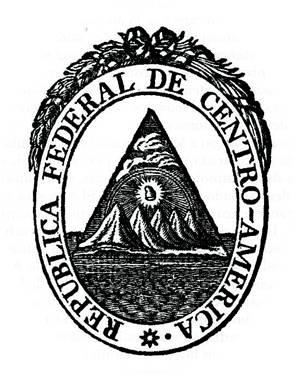 Escudo de la República Federal de Centro América.