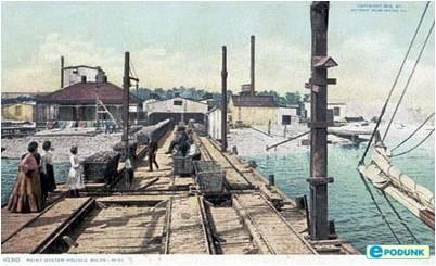 Muelle del puerto de Biloxi, por el que habrá desembarcado doña Algeria, en sus continuas visitas a la ciudad.