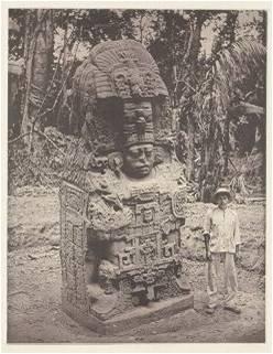 Fotografía de uno de los monolitos de Quiriguá, tomada por el arqueólogo Alfred P. Maudslay en 1883, e incluida en el tomo II de arqueología de la obra Biología Centrali-Americana.