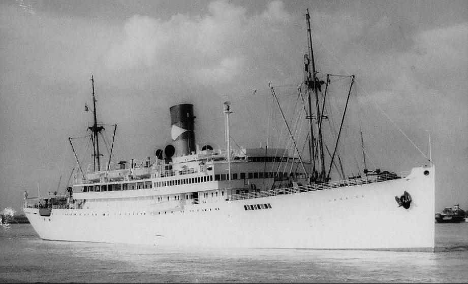 Vapor Petén, que formaba parte de la Great White Fleet, rebautizado como Jamaica en 1939.