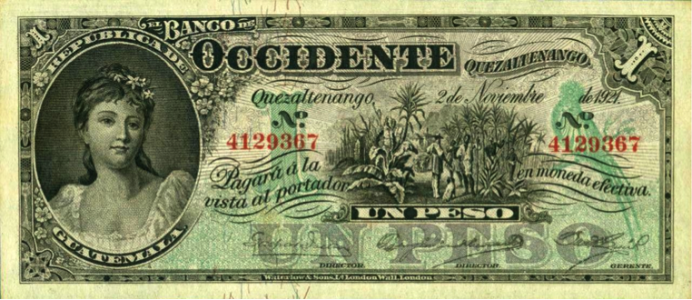 Banco de Occidente, emisión 1921