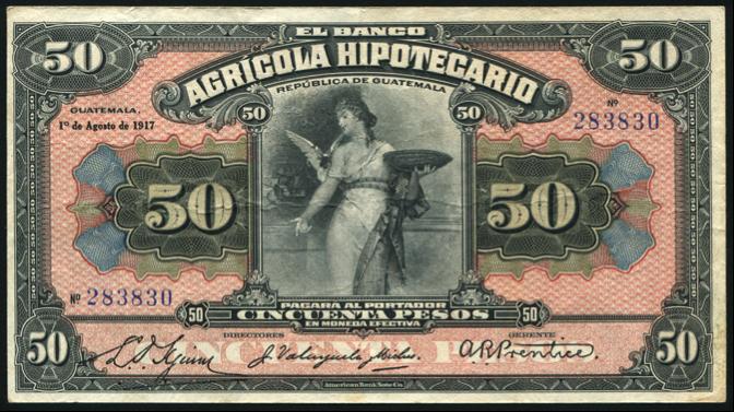 Banco Agrícola Hipotecario, emisión 1920
