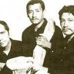 Los miembros del grupo Vértebra: Elmar René Rojas (izquierda), Marco Augusto Quiroa (centro) y Roberto Cabrera (derecha).