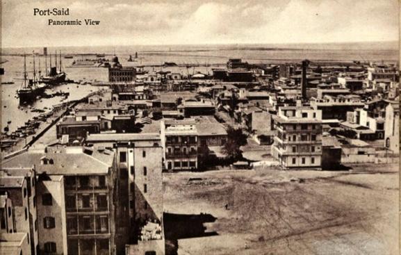 Vista panorámica de la ciudad de Port Said, que surgió como tal a raíz de la construcción del Canal, y que fue sede de la compañía administradora del mismo.