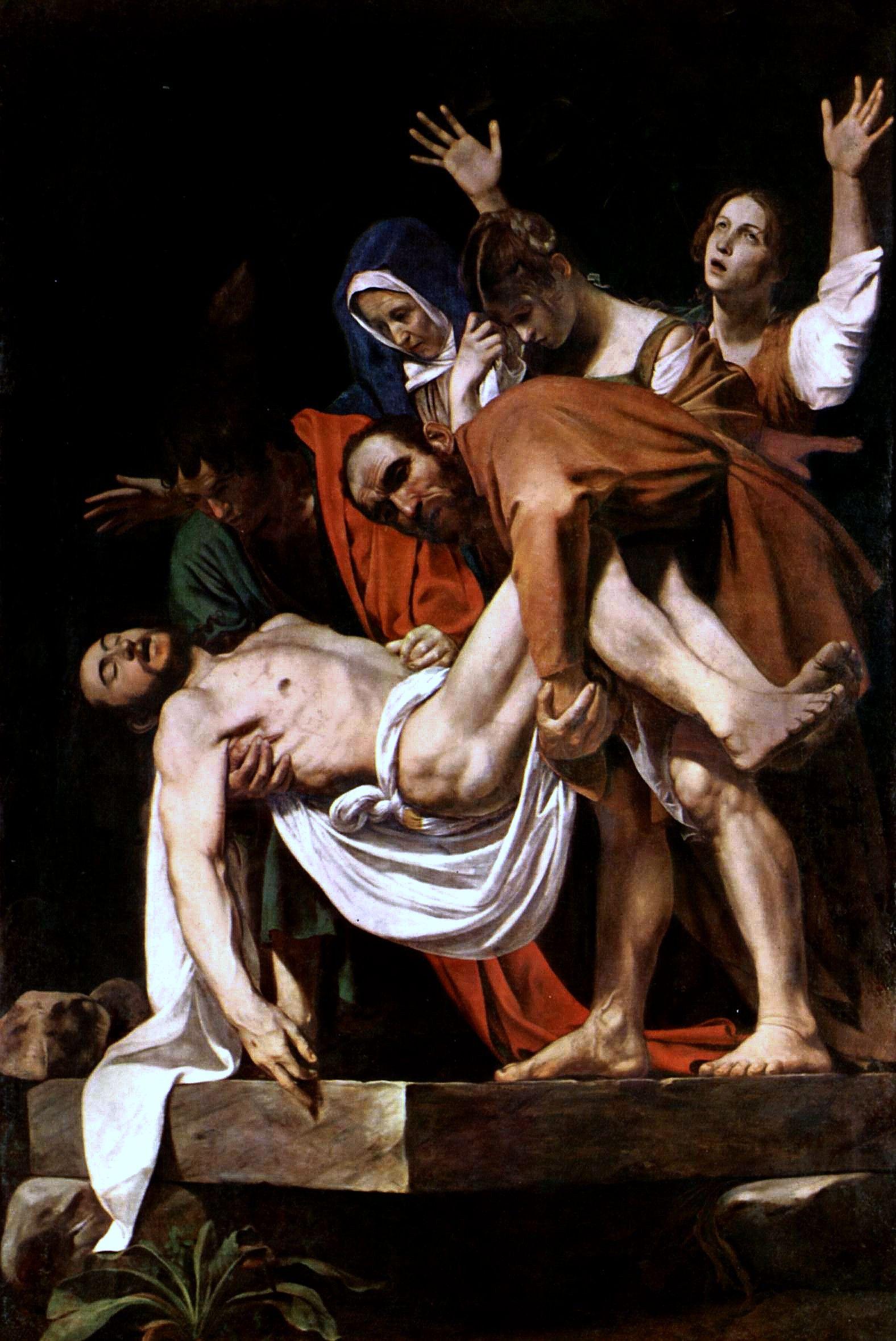 Caravaggio el Santo Entierro 1604