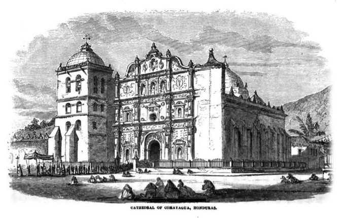 Imponente catedral de Comayagua, Honduras.