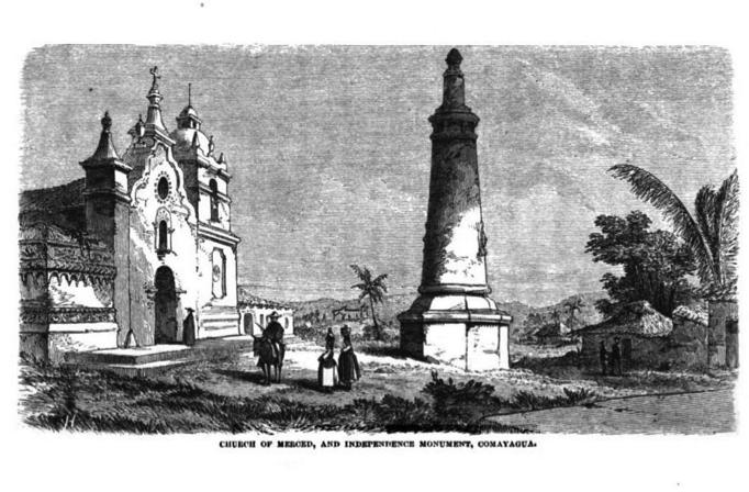 Iglesia de la Merced y monumento a la independencia. Comayagua, Honduras