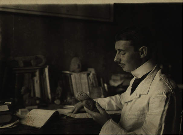 Walter Lehmann, a los 30 años durante su viaje a Costa Rica, 1907.
