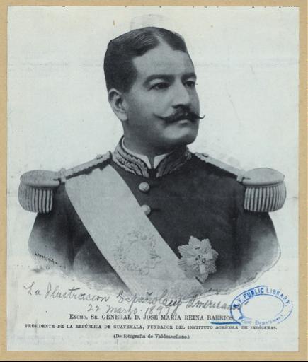 El entonces presidente de la República, general José María Reina Barrios. (Fotografía de Valdeavellano).