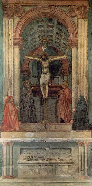 Masaccio_La Trinidad. Pintura al fresco. Iglesia de Santa Maria Novella. 1426-28
