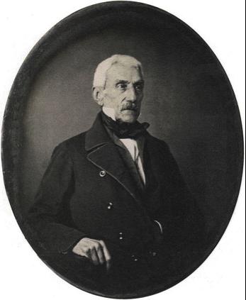El general José de San Martín, a los 70 años en su exilio francés. Daguerrotipo de 1848. (Fuente: wikipedia).