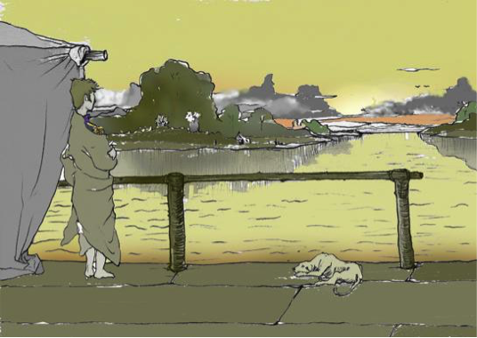 El último viaje del General será remontando el río Magdalena, hasta su desembocadura en el Mar Caribe. Este viaje es la excusa de la novela para contarnos la vida de Bolívar. Las ilustraciones desgraciadamente sin autor, fueron tomadas del siguiente sitio: http://cvc.cervantes.es/actcult/garcia_marquez/obra/novelas/historia_oficial.htm).