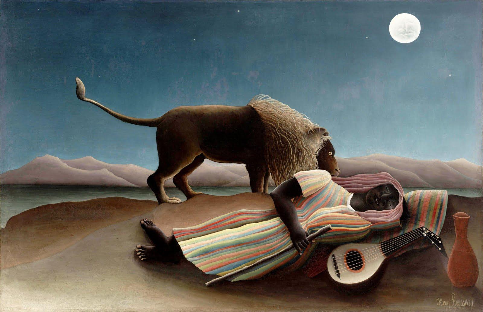 la-gitana-dormida-henri-rousseau