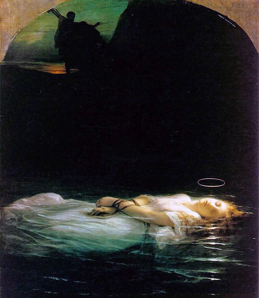 La joven martir, Paul Delaroc he (1855) Musée du Louvre.