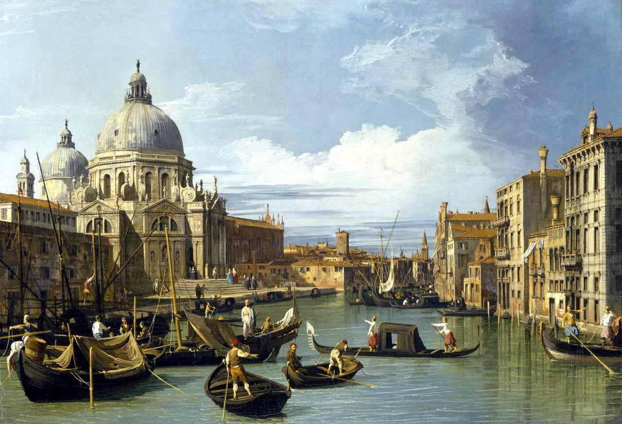Canaletto El Gran Canal y la iglesia de la Salute, (1730).