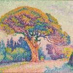 Paul Signac, 1909, The Pine Tree at Saint Tropez, oil on canvas