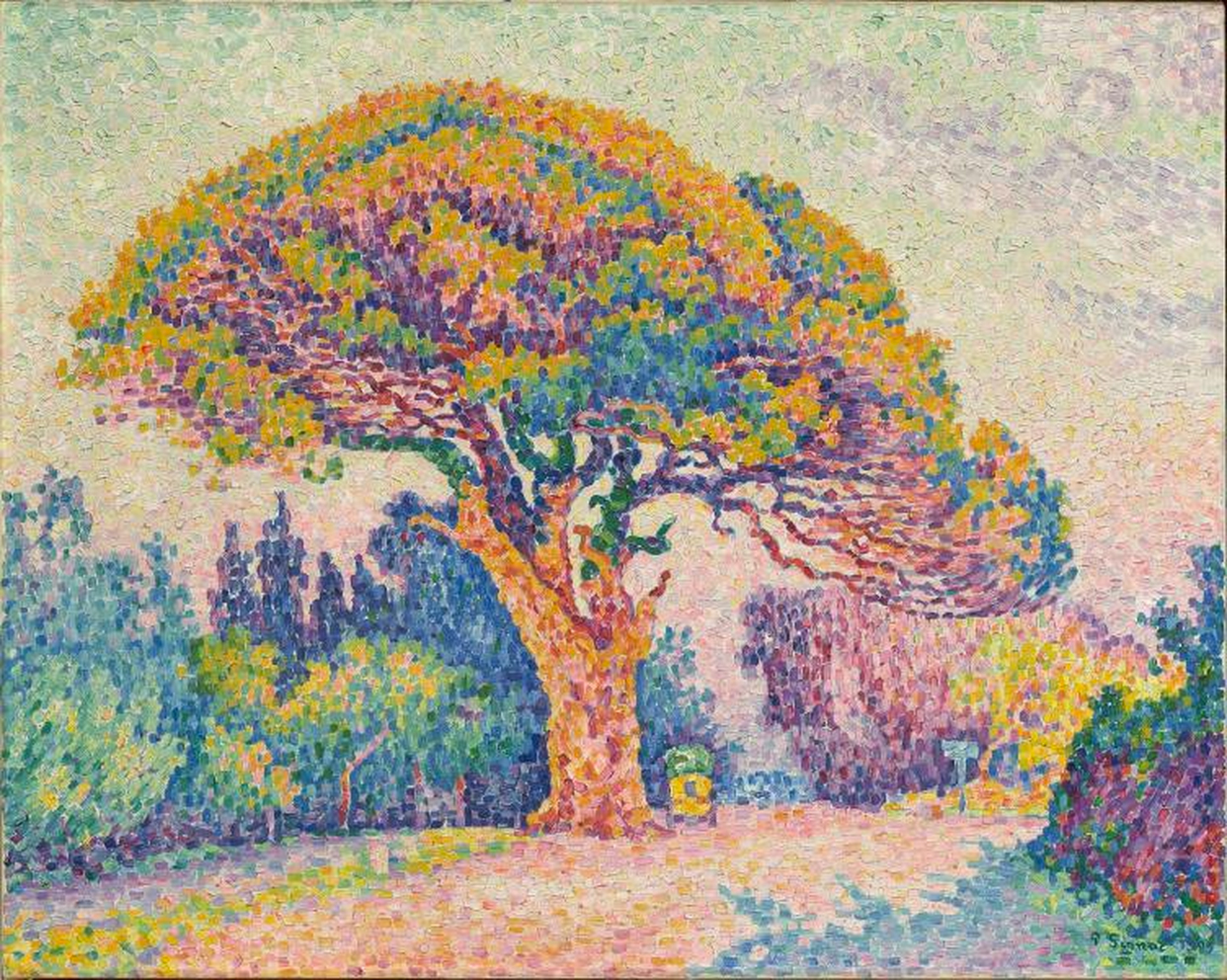 Paul Signac, 1909, The Pine Tree at Saint Tropez, oil on canvas