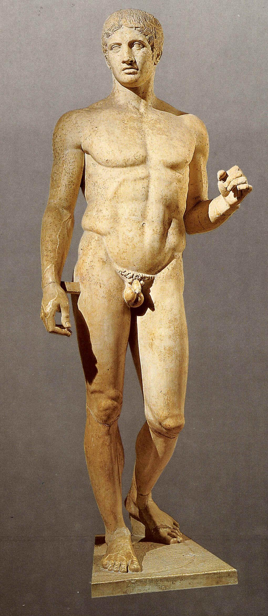 El Doriforo (el que lleva sobre  sí la lanza), de Policleto.