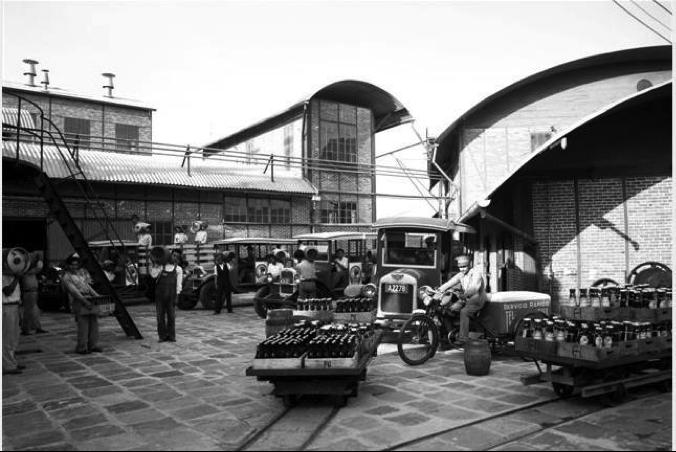 Patio de la Cervecería Centroamericana, escenario de una de las primeras huelgas que aquejaron al gobierno de don Carlos Herrera.